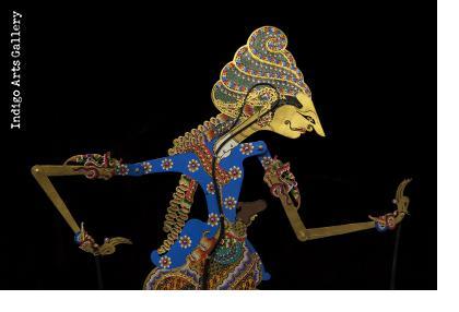 """Kamajaya"" (""The God of Love"") ""Wayang Kulit"" Javanese Shadow Puppet by Tri Suwarno"