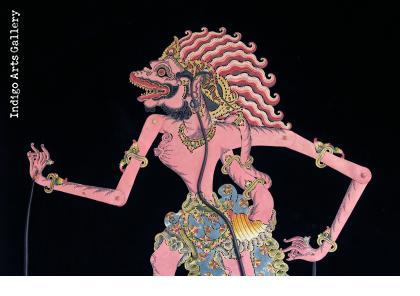 """Buta Rambut Geni"" (Ogre) Antique ""Wayang Kulit"" Javanese Shadow Puppet"