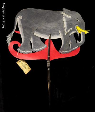 "Elephant - ""Wayang Kulit"" Javanese Shadow Puppet by Tri Suwarno"