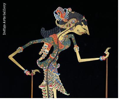 """Ratih"" (""The Goddess of Love"") ""Wayang Kulit"" Javanese Shadow Puppet by Tri Suwarno"