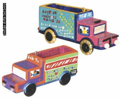 Peruvian Truck and Bus Ornaments