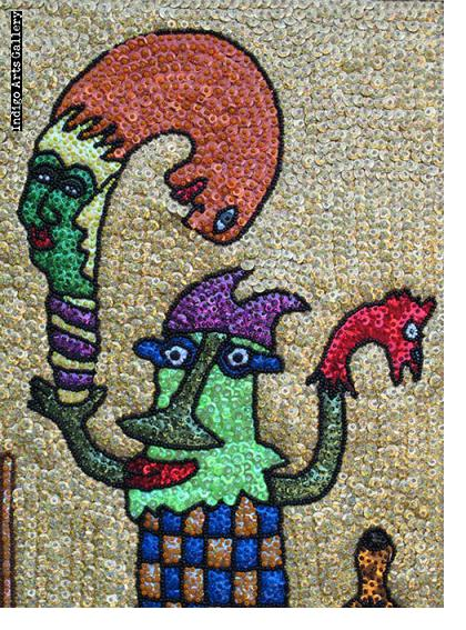 Houngan - Drapo (Sequinned Banner)