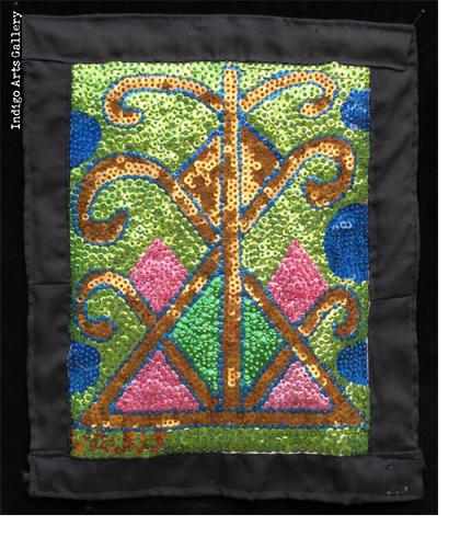 Ayizan Sequinned Vodou Banner