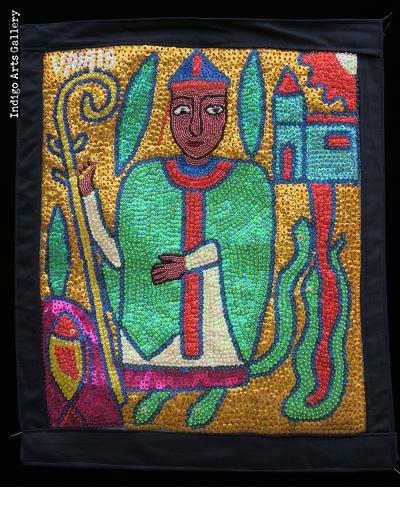 Damballa (St. Patrick) - Vodou Flag
