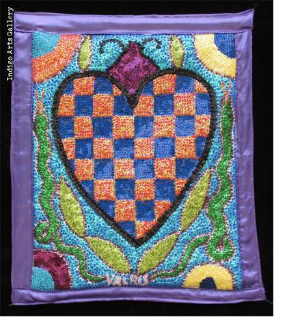 Erzulie Freda Sequinned Vodou Banner