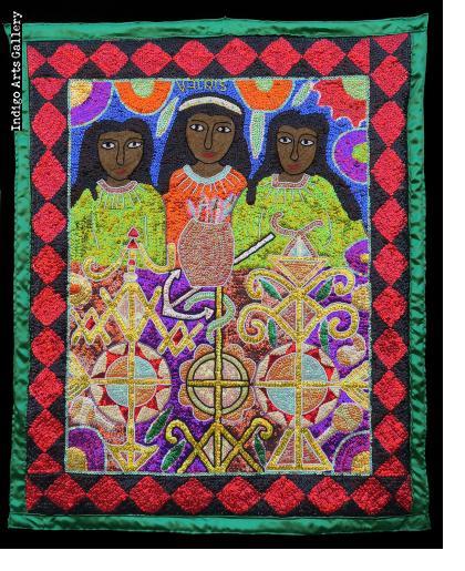 Marassa Trois (The Three Graces) - Vodou Flag