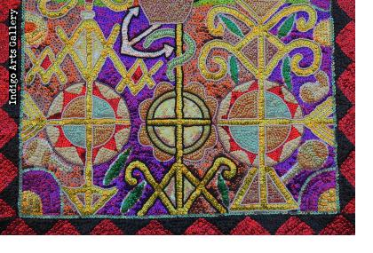 Marassa Trois (The Three Graces) - Vodou Flag