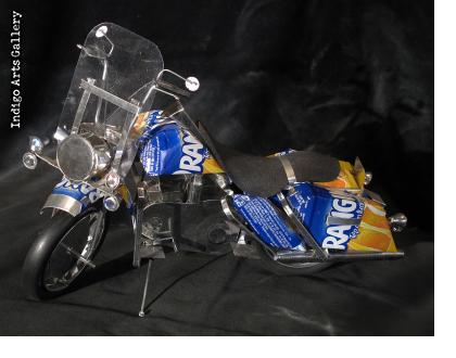 Soda Can Motorcycle (Large) - Orangina