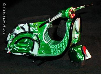 Motor Scooter Ornament