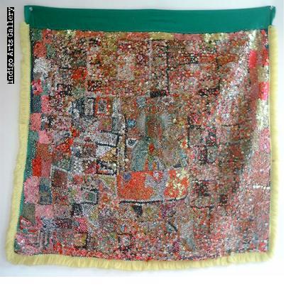 Erzulie Freda Antique Vodou Banner