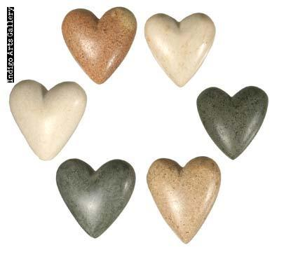 Hearts for Haiti! Hand-carved Stone Hearts - Extra small