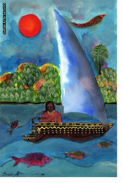 Woman in a Boat Yassir Ali Mohammed