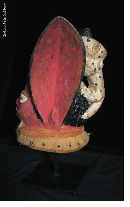 """""""Rabbit"""" Yoruba Gelede Mask"""