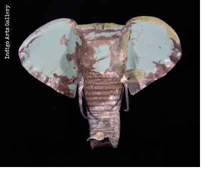 Recycled Steel Elephant Mask from Zimbabwe