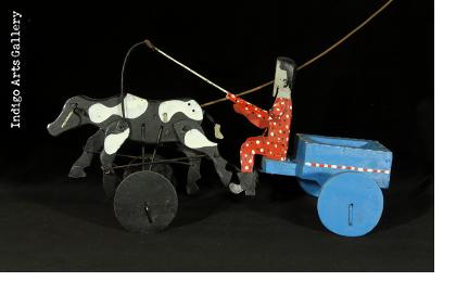 Man with an Ox-cart Pushtoy