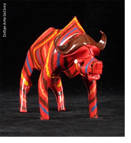 Painted Cape Buffalo (medium size)