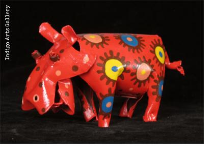 Painted Hippo (medium size)