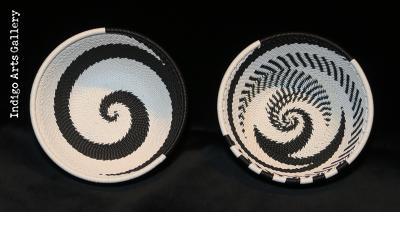 Imbenge - Small Zulu Wire Basket - Black and White