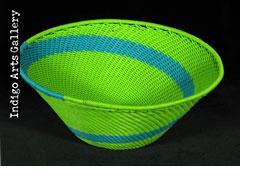 Imbenge Zulu Telephone Wire Basket (flared shape)
