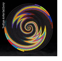 Imbenge Zulu Telephone Wire Basket - Medium Shallow Flared (bright multicolor)