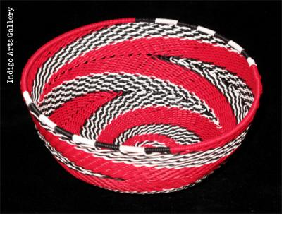 Imbenge Zulu Telephone Wire Basket (bowl shape)