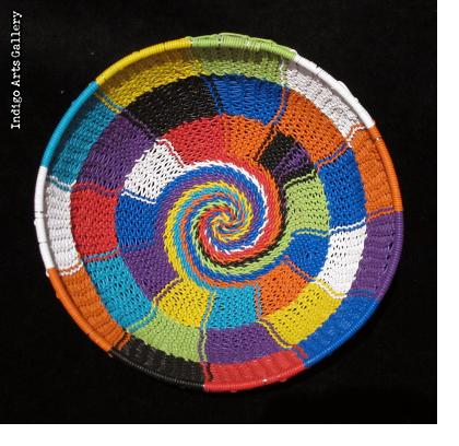 Imbenge Zulu Telephone Wire Basket (bowl shape)