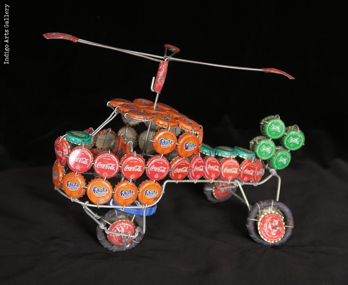 Bottle-cap Helicopter | Indigo Arts