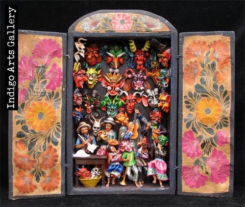 Mask Shop Retablo Indigo Arts