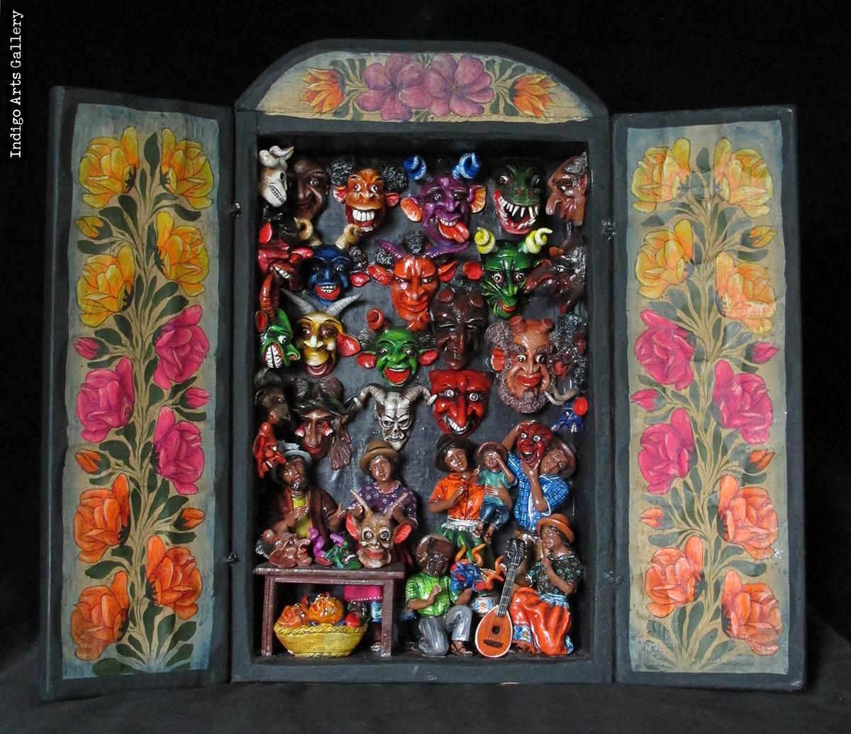 Mask Shop Retablo Version 6 Indigo Arts