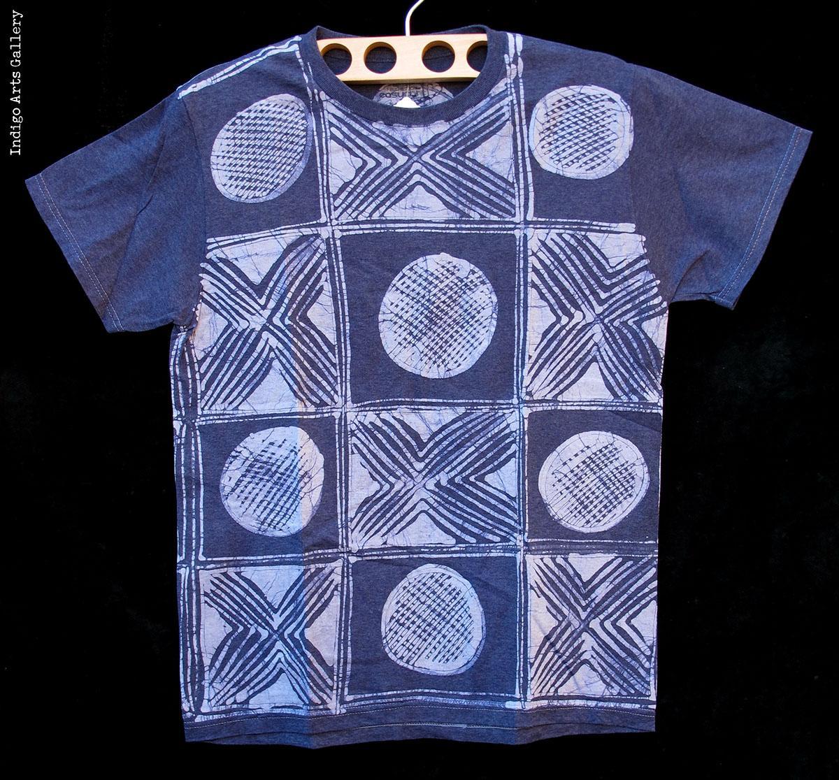 Indigo Batik T Shirt By Gasali Adeyemo
