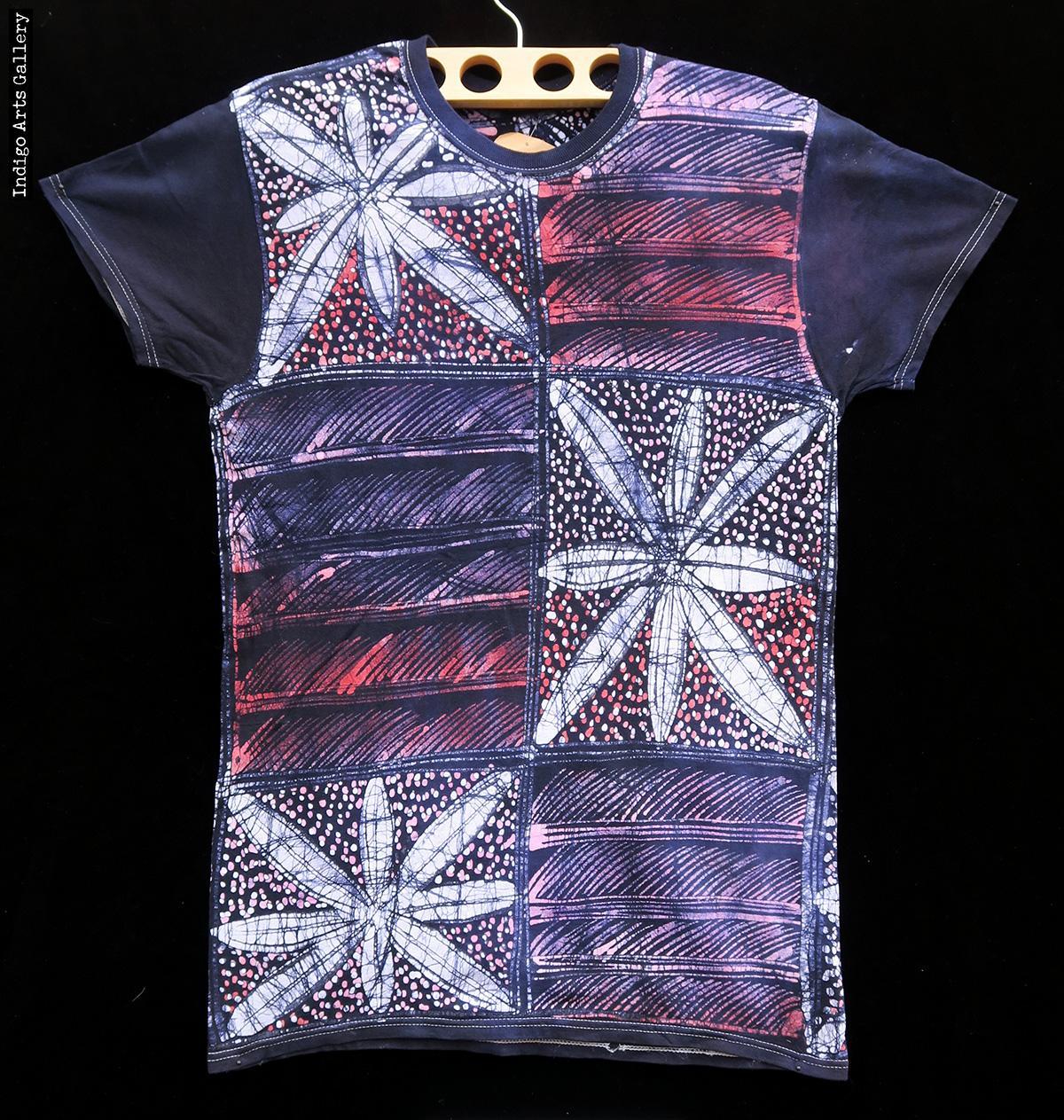 batik t shirt by gasali adeyemo indigo arts. Black Bedroom Furniture Sets. Home Design Ideas