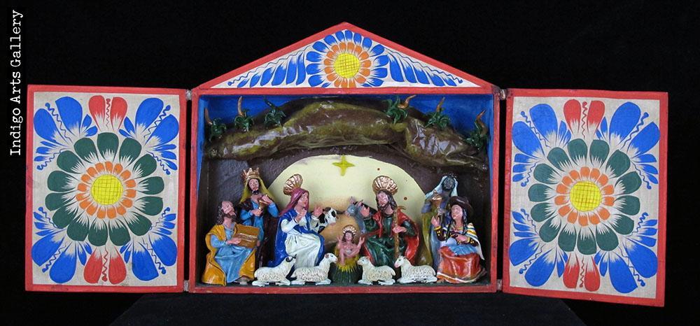 Nacimiento Nativity Retablo Large Indigo Arts