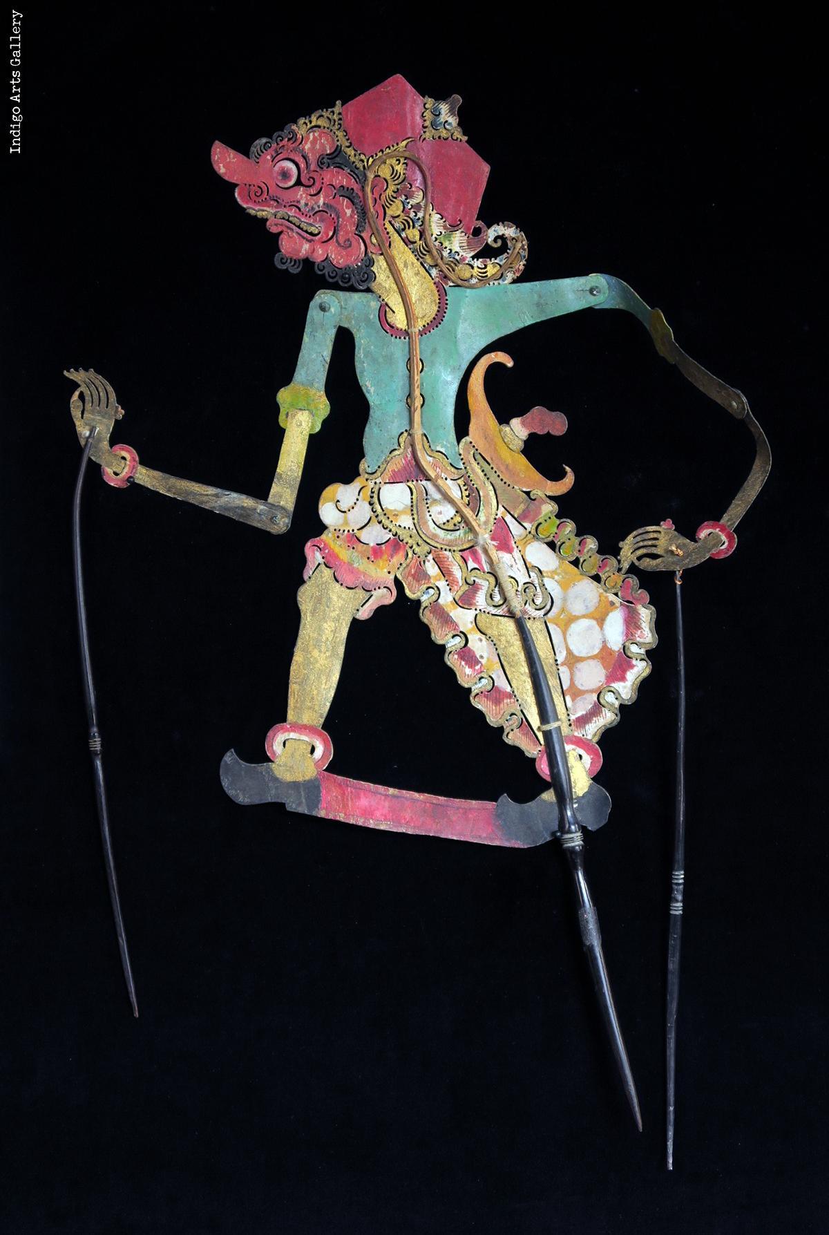 Warrior Antique Quot Wayang Kulit Quot Javanese Shadow Puppet
