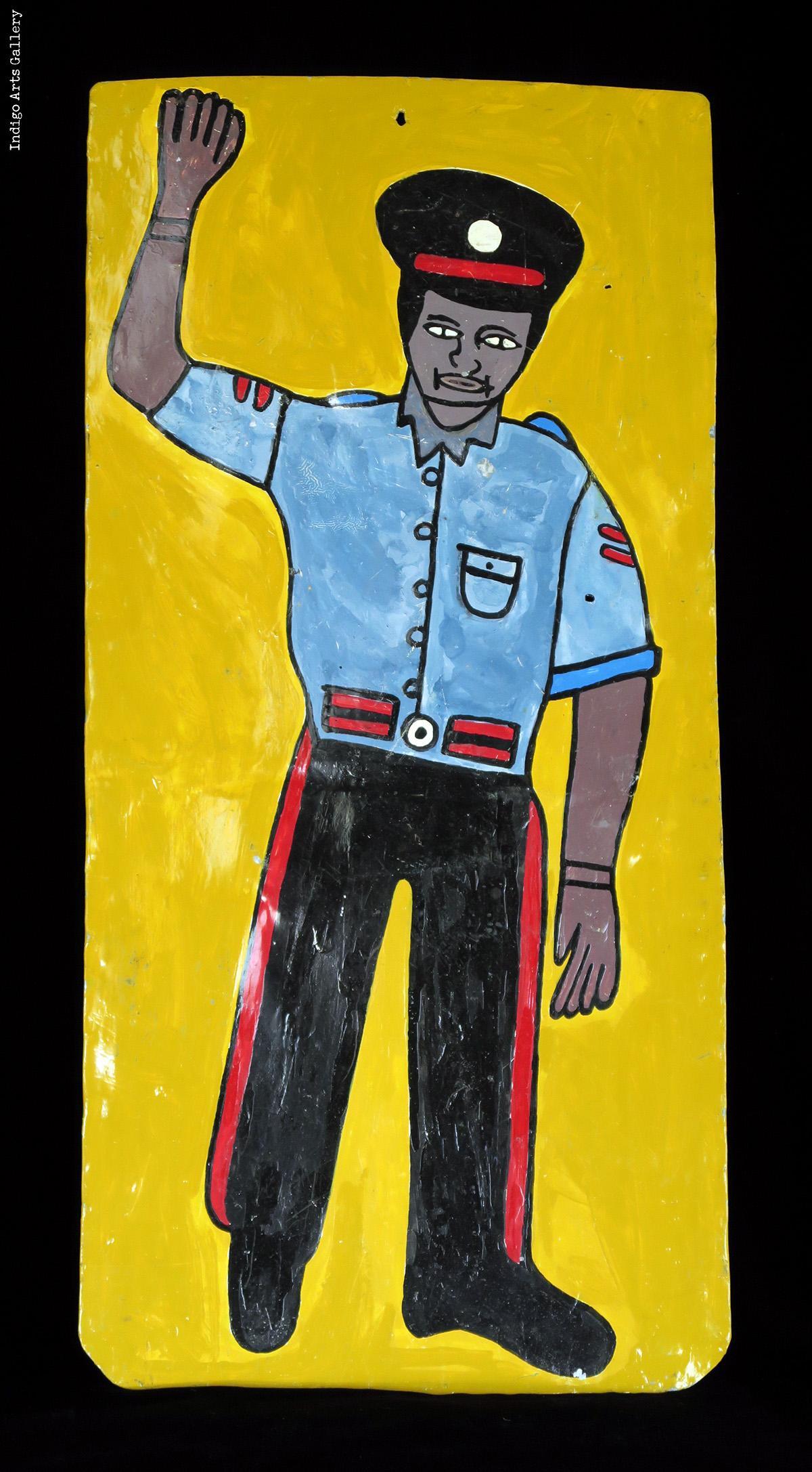 Jamaican Police Man Indigo Arts